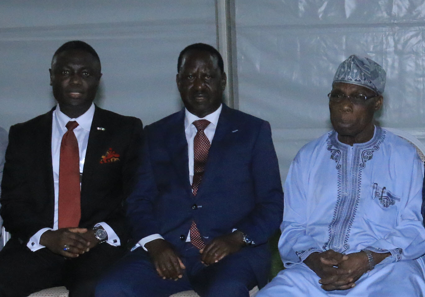 Salako, Odinga and Obasanjo
