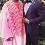 Congressman Gregory Meeks with Shola Salako at the CBCF