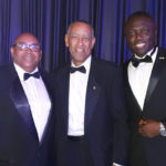 Mr. Victor Russell (middle) with Shola Salako at the CBCF